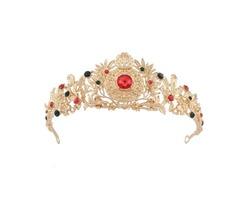 Bride Rhinestone Crystal Princess Queen Gold Crown Tiara Wedding Party Prom Headpiece