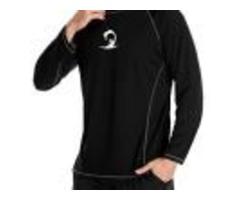 Beautyin Men's Long Sleeve Rashguard Sun Shirt UV Protect Athletic Shirts