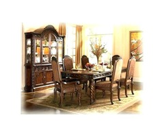 7 Pc Dining room set-Dining Table and 6 Kitchen Dining Chairs