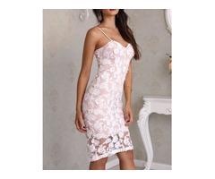 Sweetheart Neck Crochet Lace Slip Dress