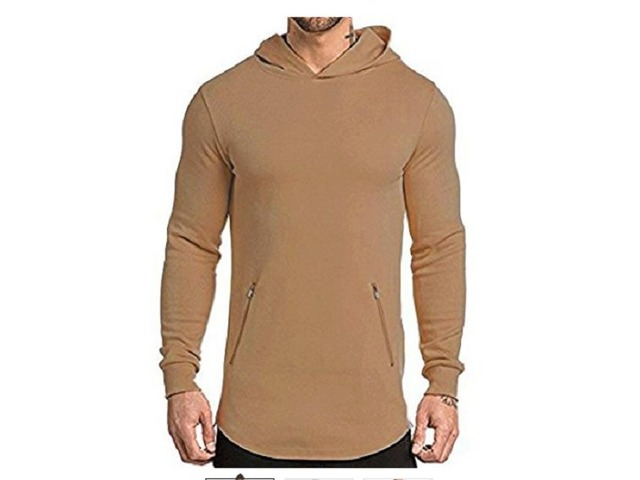 EVERWORTH Men's Gym Workout Long Sleeve Hoodies Training Pullover Casual Hooded Sweatshirt   free-classifieds.co.uk
