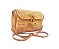 Handwoven Long-Oval Rattan Bag Made In Vietnam – Natural Stylish & Chic