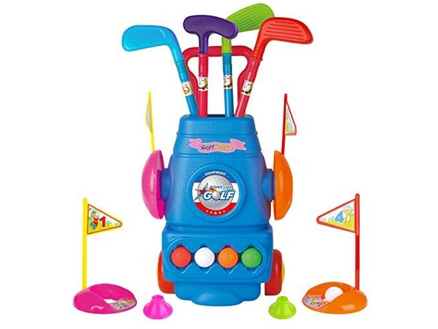 Meland Kids Golf Club Set – Toddler Golf Ball Game Play Set Sports Toys | free-classifieds.co.uk