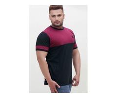 Fashioni Nova T-Shirt Black & Burgundy