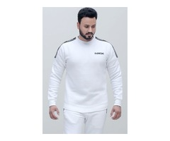 Fashioni White Royal Sweatshirt