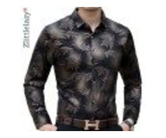 NEW SOCIAL LONG SLEEVE MAPLE LEAF DESIGNER SHIRTS MEN SLIM FIT VINTAGE FASHIONS MEN'S