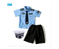 KIDS POLICE OFFICER COSPLAY COSTUME