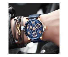 WINNER OFFICIAL GOLDEN AUTOMATIC WATCH MEN STEEL STRAP SKELETON MECHANICAL SKULL WATCHES
