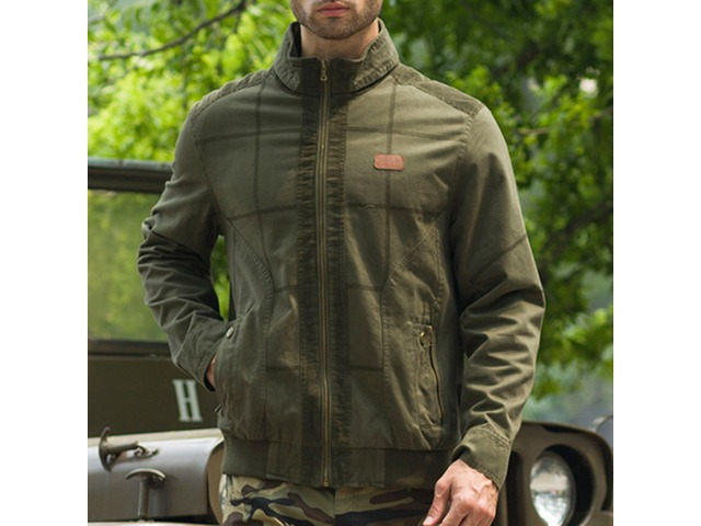 Mens Military Style Casual Cotton Cargo Jacket   free-classifieds.co.uk
