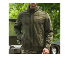 Mens Military Style Casual Cotton Cargo Jacket
