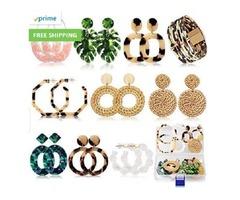 Acrylic Earrings For Women Mom Drop Dangle Leaf Earrings Resin Minimalist Bohemian Statement Jewelr