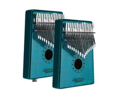GECKO MC-BL 17 Keys Kalimba Curly maple wood Thumb Piano Finger With Tune Hammer