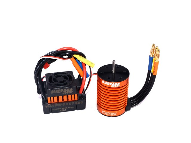 Surpass Hobby Waterproof F540 3300KV Brushless Rc Car Motor +45A ESC Combo Set For 1/10 Rc Car | free-classifieds.co.uk