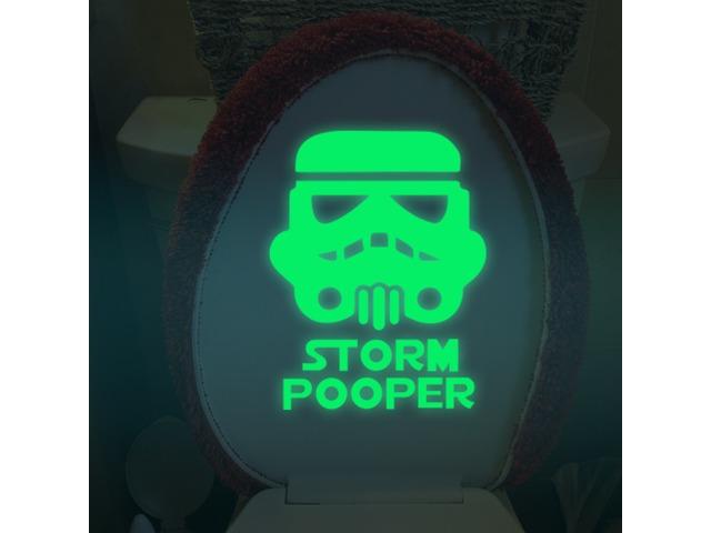 Miico Creative Movie Role Warrior Luminous PVC Removable Home Bathroom Decorative Switch Door Decor    free-classifieds.co.uk