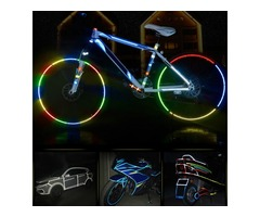"BIKIGHT 315"" Cycling MTB Bike Safety Reflective Wheel Sticker for Xiaomi Scooter Bike Decal Tape"