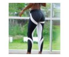 MESH PATTERN PRINT LEGGINGS FITNESS LEGGINGS FOR WOMEN SPORTING WORKOUT LEGGINS