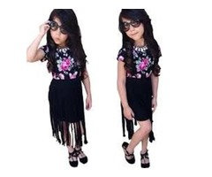 MENOEA GIRLS SUITS 2020 SUMMER STYLE KIDS BEAUTIFUL FLORAL FLOWER SLEEVE CHILDREN O-NECK CLOTHING SH | free-classifieds.co.uk