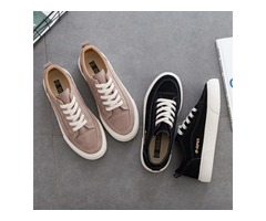 WOMAN SHOES NEW FASHION CASUAL SUEDE LEATHER SHOES WOMEN CASUAL BREATHABLE
