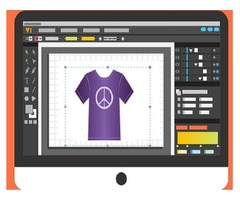 How smart templates can be created using t-shirt design software?
