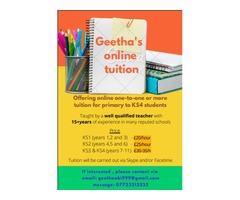 Online tutoring for KS2- (primary and 11-plus), KS3 and GCSE (Maths and Science)