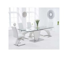 Buy Glass Dining Table Set Online- Swagger Home Furnishings