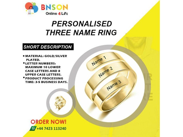 Personalised name rings | free-classifieds.co.uk