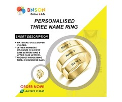 Personalised name rings