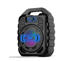 Bakeey Wireless bluetooth Speaker Kalaoke Colorful Light Stereo TF Card FM Radio Portable Speaker
