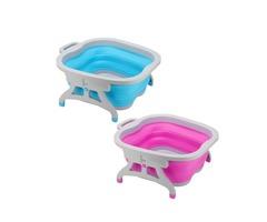 Foldable Foot Bucket Bubble Wet Foot Spa Bath Massage Relaxing Soothing Foot Soaking Water Bucket