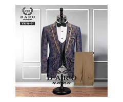 MEN SUIT BRIDEGROOM WEDDING TUXEDO NEW STYLE BLAZER PATTERN JACKET.