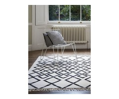 Hackney Rug by Asiatic Carpets in Diamond Mono Design | Rugs UK