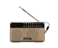 DC 5V Portable FM Radio Speaker Stereo bluetooth TF/USB MP3 Player Sound w/ Battery