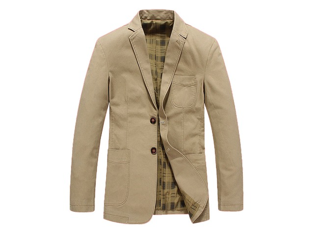 Spring Autumn Casual Business Cotton Blazer Jacket for Men | free-classifieds.co.uk