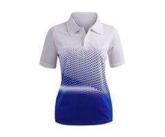 CLOVERY Women's Active Wear Short Sleeve Shirt.