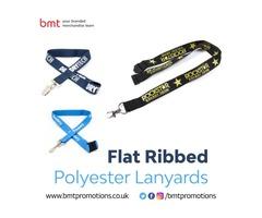 Flat Ribbed Polyester Lanyards