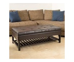 CHRISTOPHER KNIGHT HOME MIRIAM OTTOMAN WITH STORAGE AND BOTTOM RACK, ESPRESSO