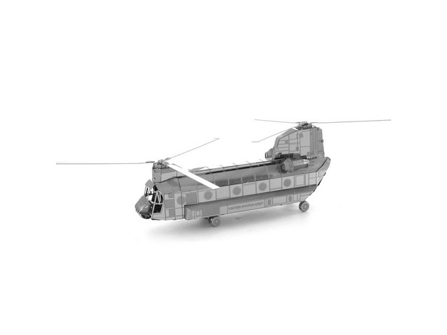 Aipin DIY 3D Puzzle Stainless Steel Model Kit Chinook Helicopter Silver Color | free-classifieds.co.uk