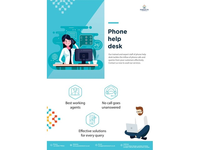 Phone Help Desk   Pixelette Technologies   free-classifieds.co.uk