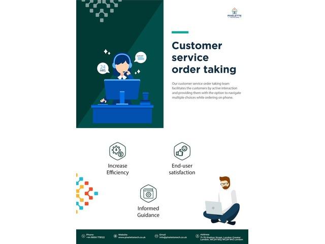 Customer Service Order Taking | Pixelette Technologies | free-classifieds.co.uk
