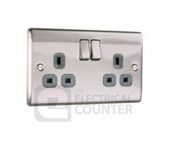 Brushed Steel Sockets with USB