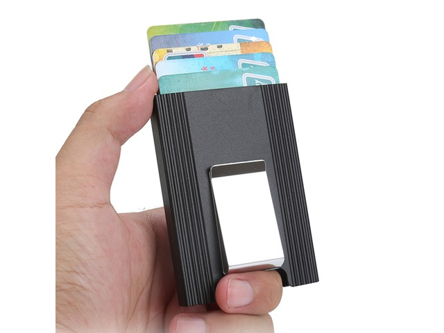 IPRee® Aluminum Alloy Card Holder Credit Card Case ID Card Box Metal Wallet Clip Business Travel | free-classifieds.co.uk