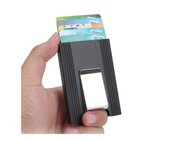 IPRee® Aluminum Alloy Card Holder Credit Card Case ID Card Box Metal Wallet Clip Business Travel