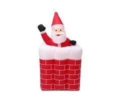 1.6M Telescoping Santa Inflatable Christmas Light Pop Up Chimney Decorations