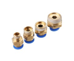 Machifit Pneumatic Connector Quick Joint PC Straight Male Thread Pipe Fittings 8-01/02/03/04