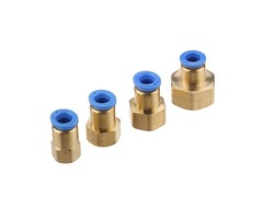 Machifit Pneumatic Connector PCF Female Thread Straight Quick Hose Joint Fittings 8-01/02/03/04