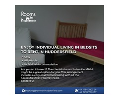 Enjoy individual living in bedsits to rent in Huddersfield