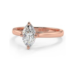 Florence Solitaire Engagement Ring with Gold