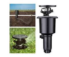 360 Degree Pop-Up Water Spray Nozzle Lawn Sprinkler Double Arms Yard Garden Drip Irrigation System
