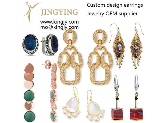 Custom earrings zirconia 925 silver fine jewelry OEM supplier | free-classifieds.co.uk