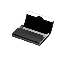 IPRee® PU Stainless Steel Card Holder Portable Credit Card Case ID Card Storage Box | free-classifieds.co.uk